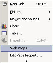 LiveWeb - insert and update web pages real-time in PowerPoint